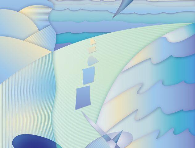 El planeta respira de Nuevo, 2020. Pintura digital sobre tela, 122 x 81 cm.