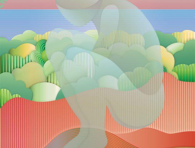 Soledad, 2019. Pintura digital sobre tela, 137 x 91 cm.