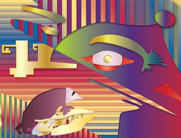 En el ojo de mi mente, 2015. Pintura digital sobre tela, 127 x 81 cm