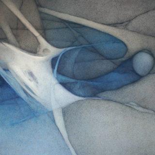 El Tiempo y Yo (Colección Privada) | Óleo sobre tela, 150 x 120 cm