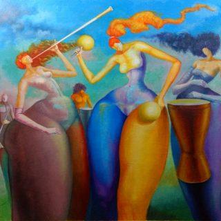 'Entre pitos y tambores, par de maracas...'